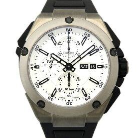 【ポイントバックセール 3%ポイント還元】 IWC IWC インヂュニア ダブルクロノグラフ チタニウム IW386501 シルバー文字盤 メンズ 腕時計 【新品】