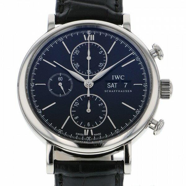 IWC IWC ポートフィノ クロノグラフ IW391008 ブラック文字盤 メンズ 腕時計 【中古】