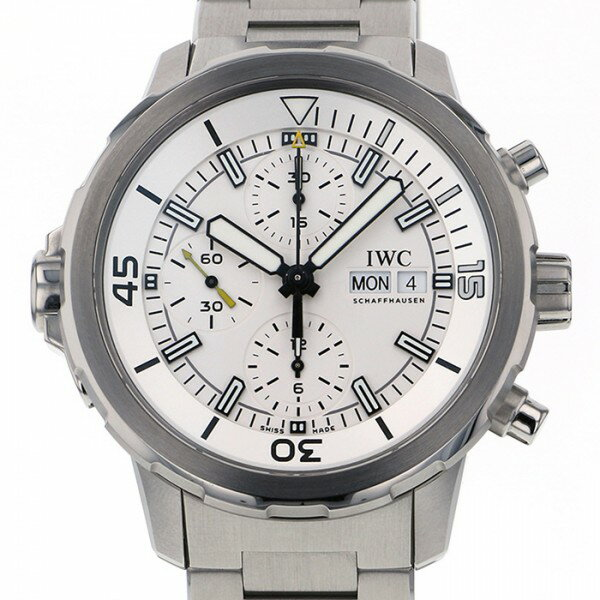 IWC IWC アクアタイマー クロノグラフ IW376802 ホワイト文字盤 メンズ 腕時計 【中古】