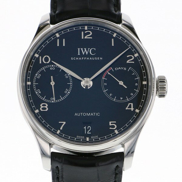 IWC IWC ポルトギーゼ オートマティック 7デイズ IW500703 ブラック文字盤 メンズ 腕時計 【中古】