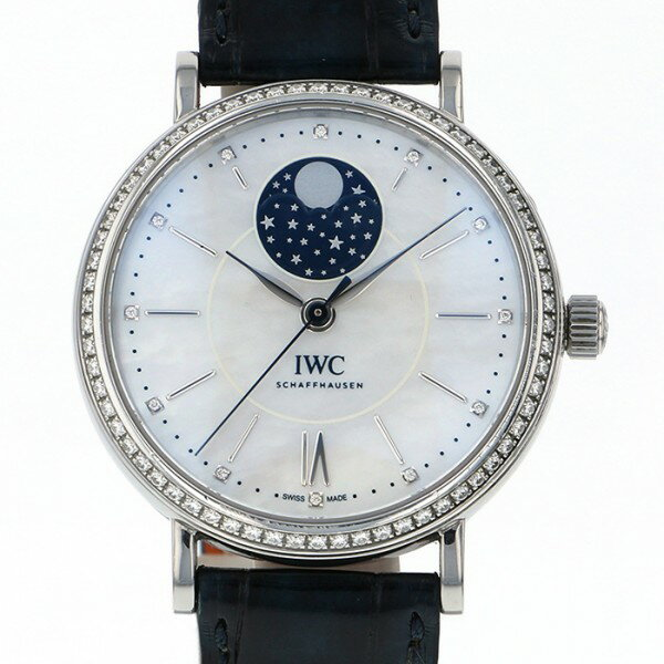 IWC IWC ポートフィノ ミッドサイズ オートマティック ムーンフェイズ IW459001 ホワイトシェル文字盤 メンズ 腕時計 【中古】