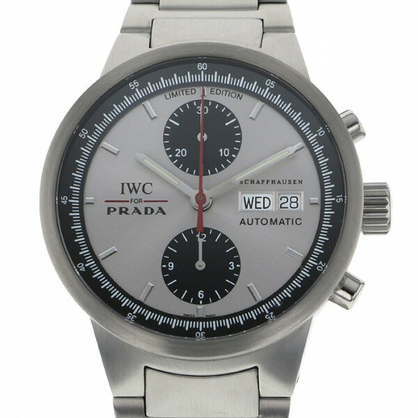 IWC IWC IWC For PRADA 2000本限定 IW370802 シルバー文字盤 メンズ 腕時計 【中古】