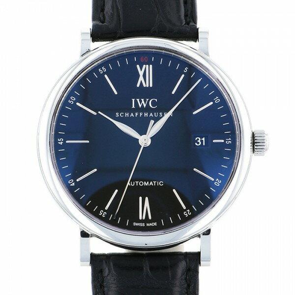 IWC IWC ポートフィノ IW356502 ブラック文字盤 メンズ 腕時計 【中古】