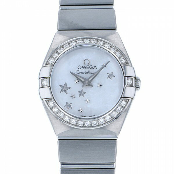 オメガ OMEGA コンステレーション ブラッシュ クォーツ 123.15.24.60.05.003 ホワイトシェル文字盤 レディース 腕時計 【中古】