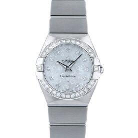 【ポイントバックセール 3%ポイント還元】 オメガ OMEGA コンステレーション ベゼルダイヤ 123.15.24.60.55.001 ホワイト文字盤 レディース 腕時計 【未使用】
