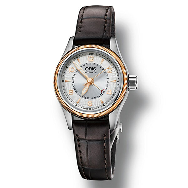 オリス ORIS ビッグクラウン ポインターデイト 594 7680 4361D シルバー文字盤 レディース 腕時計 【新品】