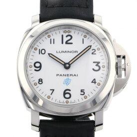 パネライ PANERAI ルミノール ベース ロゴ アッチャイオ PAM00630 ホワイト文字盤 メンズ 腕時計 【中古】