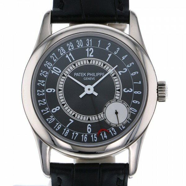 パテック フィリップ PATEK PHILIPPE カラトラバ 6000G-010 グレー/シルバー文字盤 メンズ 腕時計 【中古】
