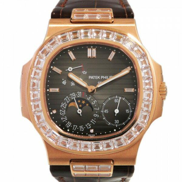 パテック・フィリップ PATEK PHILIPPE ノーチラス ベゼルバケットダイヤ 5724R-001 ダークブラウン文字盤 メンズ 腕時計 【新品】