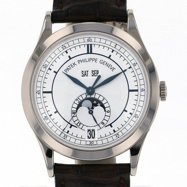 パテック フィリップ PATEK PHILIPPE アニュアルカレンダー 5396G オパーリンシルバー文字盤 メンズ 腕時計 【中古】