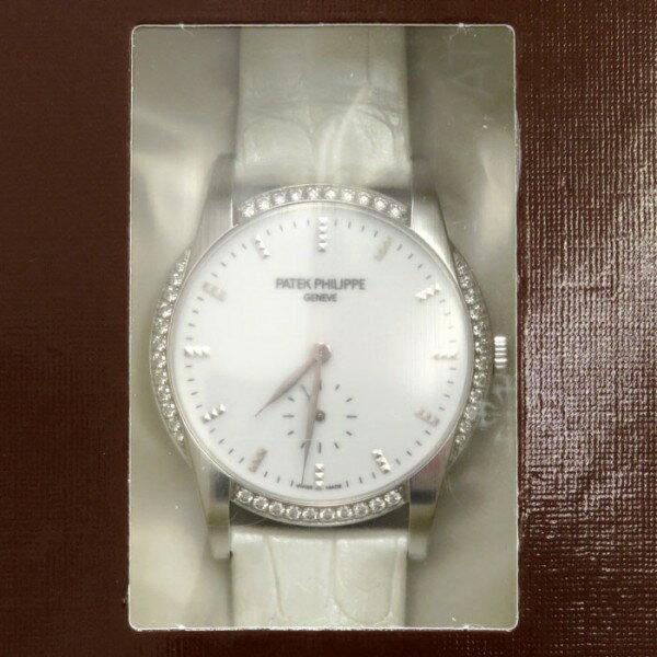 パテック・フィリップ PATEK PHILIPPE カラトラバ 7122/200G-001 ホワイト文字盤 レディース 腕時計 【新品】