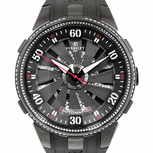 ペルレ PERRELET タービン トキシック A4023/3 ブラック/スカルダイヤ文字盤 メンズ 腕時計 【新品】