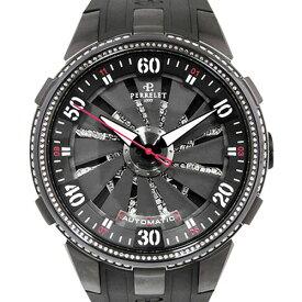 【ポイントバックセール 3%ポイント還元】 ペルレ PERRELET その他 タービン トキシック A4023/3 ブラック文字盤 メンズ 腕時計 【未使用】