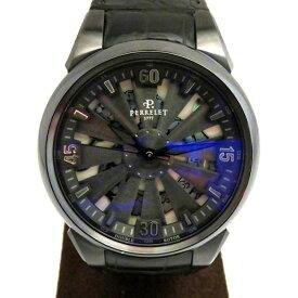 【ポイントバックセール 3%ポイント還元】 ペルレ PERRELET その他 タービン A8001/1 ブラック文字盤 メンズ 腕時計 【新品】