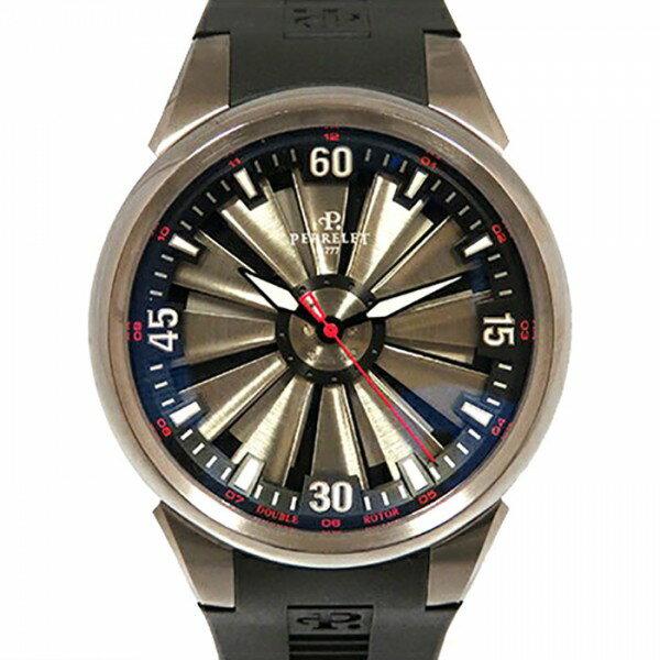 ペルレ PERRELET タービン A0395 グレー文字盤 メンズ 腕時計 【新品】