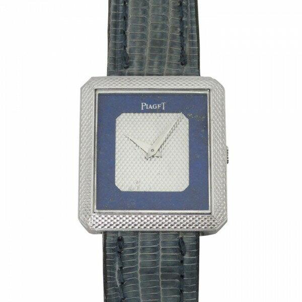 ピアジェ PIAGET その他 スクエア 腕時計 - シルバー/ブルー文字盤 レディース 腕時計 【アンティーク】