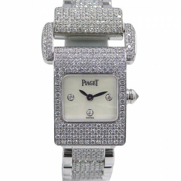 ピアジェ PIAGET ミスプロトコール ホワイトシェル文字盤 腕時計 【中古】