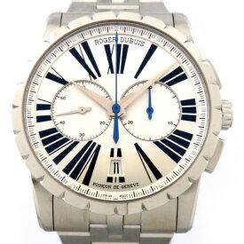 【ポイントバックセール 3%ポイント還元】 ロジェ・デュブイ ROGER DUBUIS エクスカリバー クロノ DBEX0451 シルバー文字盤 メンズ 腕時計 【新品】