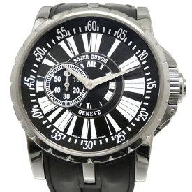 【ポイントバックセール 3%ポイント還元】 ロジェ・デュブイ ROGER DUBUIS エクスカリバー EX45 77 9 9.71R ブラック文字盤 メンズ 腕時計 【中古】