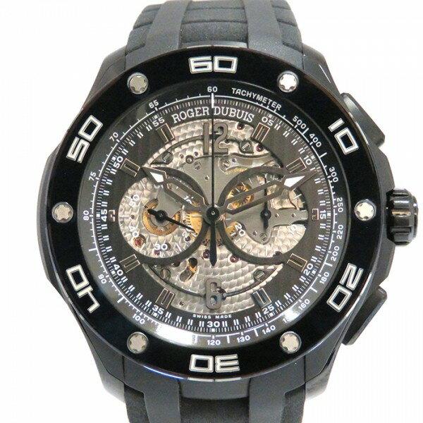 ロジェ・デュブイ ROGER DUBUIS パルジョン マイクロローター クロノグラフ RDDBPU0005 シルバー/ブラック文字盤 メンズ 腕時計 【新品】