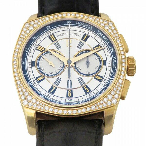 ロジェ・デュブイ ROGER DUBUIS モネガスクダイヤ RDDBMG0011 ブラック/ホワイト文字盤 メンズ 腕時計 【中古】