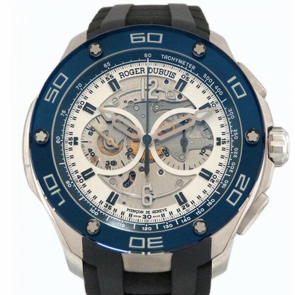 ロジェ・デュブイ ROGER DUBUIS パルジョン クロノグラフ RDDBPU0004 シルバー文字盤 メンズ 腕時計 【新品】