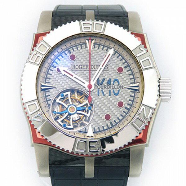 ロジェ・デュブイ ROGER DUBUIS イージーダイバー トゥールビヨン SE48029/OK9.53 ブルーカーボン文字盤 メンズ 腕時計 【中古】