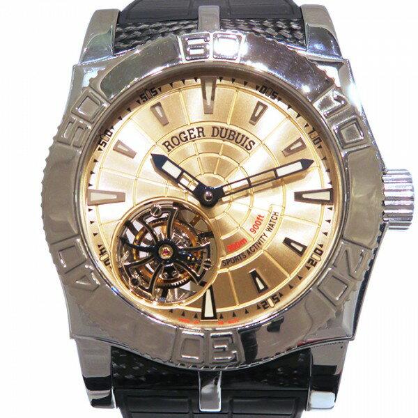 ロジェ・デュブイ ROGER DUBUIS イージーダイバー トゥールビヨン 世界限定280本 SE48.02.9/0.3.53 シャンパン文字盤 メンズ 腕時計 【中古】