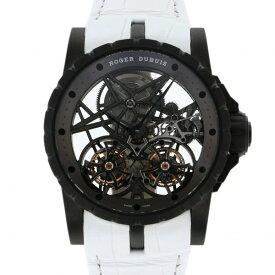 【ポイントバックセール 3%ポイント還元】 ロジェ・デュブイ ROGER DUBUIS エクスカリバー ダブルフライングトゥールビヨン RDDBEX0471 シルバー文字盤 メンズ 腕時計 【中古】
