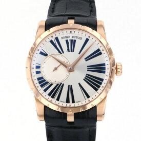 【ポイントバックセール 3%ポイント還元】 ロジェ・デュブイ ROGER DUBUIS エクスカリバー 42 RDDBEX0351 シルバー文字盤 メンズ 腕時計 【中古】