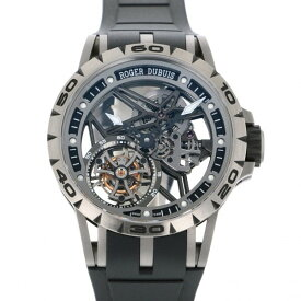 【ポイントバックセール 3%ポイント還元】 ロジェ・デュブイ ROGER DUBUIS エクスカリバー スパイダー フライング トゥールビヨン スケルトン RDDBEX0479 シルバー文字盤 メンズ 腕時計 【中古】