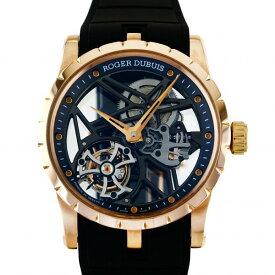 ロジェ・デュブイ ROGER DUBUIS エクスカリバー 42 フライングトゥールビヨン スケルトン DBEX0392 グレー文字盤 中古 腕時計 メンズ