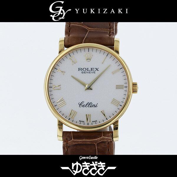 ロレックス ROLEX チェリーニ 5115/8 ホワイト文字盤 メンズ 腕時計 【中古】