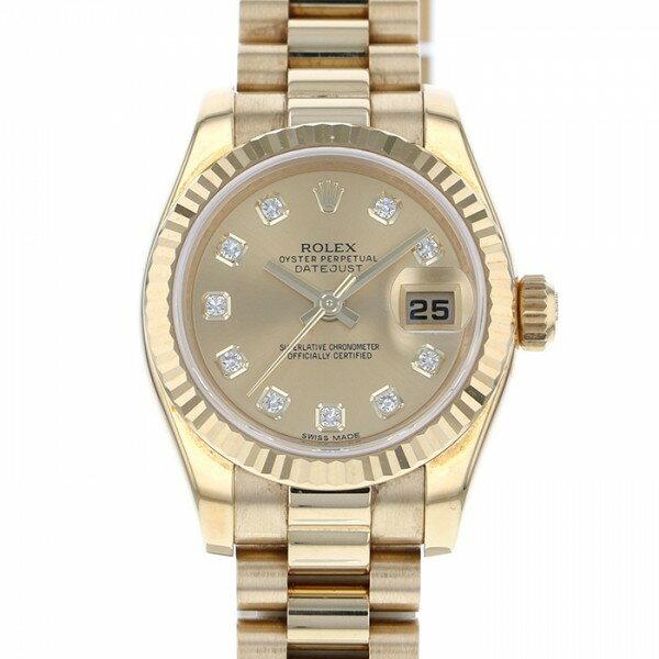 ロレックス ROLEX オイスターパーペチュアル デイトジャスト 179178G シャンパン文字盤 メンズ 腕時計 【中古】