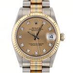 ロレックスROLEXデイトジャストトリドール68279Bシャンパン文字盤メンズ腕時計【中古】