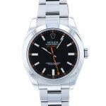 ロレックスROLEXミルガウス116400ブラック文字盤メンズ腕時計【中古】