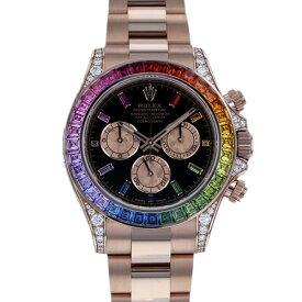 ロレックス ROLEX デイトナ レインボー 116595RBOW ブラック/ピンク文字盤 メンズ 腕時計 【新品】