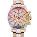 ロレックス ROLEX デイトナ レインボー パヴェダイヤ 116595RBOW 全面ダイヤ文字盤 新品 腕時計 メンズ