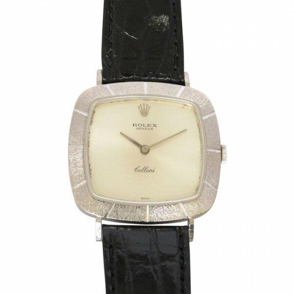 ロレックス ROLEX チェリーニ 3880 シルバー文字盤 メンズ 腕時計 【アンティーク】