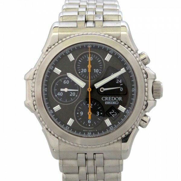 セイコー SEIKO クレドール パシフィーク 2000年限定2000本 GCBK997(6S77-0A10) ブラックカーボン文字盤 メンズ 腕時計 【中古】
