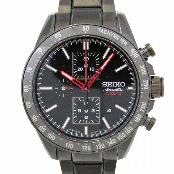 セイコー SEIKO ブライツ アナンタ メカニカル クロノグラフ SAEH011 ブラック文字盤 メンズ 腕時計 【中古】
