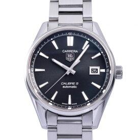 タグ・ホイヤー TAG HEUER カレラ キャリバー5 WAR211A.BA0782 ブラック文字盤 中古 腕時計 メンズ