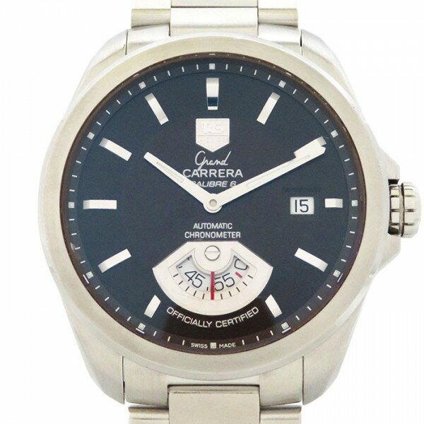 【全品 ポイント10倍 3/26まで】タグ・ホイヤー TAG HEUER カレラ グランドカレラ WAV511C ブラック文字盤 メンズ 腕時計 【中古】