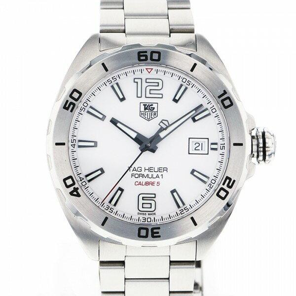 タグ・ホイヤー TAG HEUER フォーミュラー1 キャリバー5 WAZ2114.BA0875 ホワイト文字盤 メンズ 腕時計 【中古】