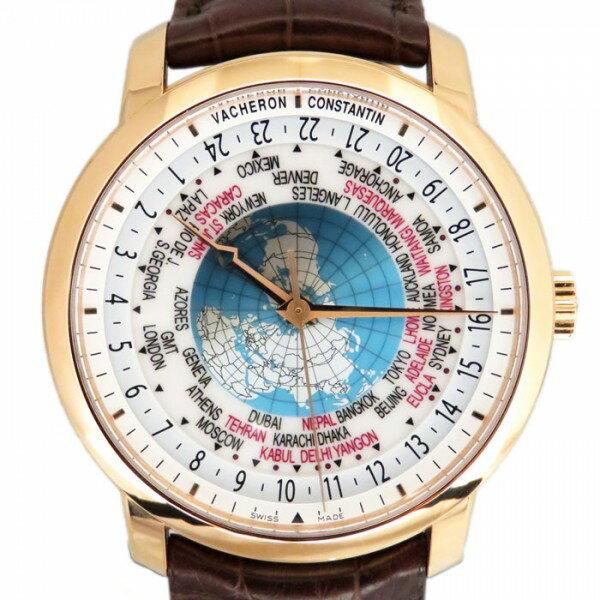 ヴァシュロン・コンスタンタン VACHERON CONSTANTIN トラディショナル ワールドタイム 86060/000R-9640 ホワイト/ア−スブル−文字盤 メンズ 腕時計 【新品】