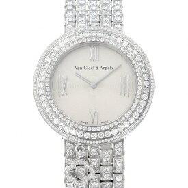 ヴァンクリーフ&アーペル Van Cleef & Arpels チャーム パヴェ VCARN5LN00 シルバー文字盤 中古 腕時計 レディース