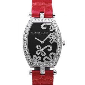 ヴァンクリーフ&アーペル Van Cleef & Arpels ブラック文字盤 中古 腕時計 レディース