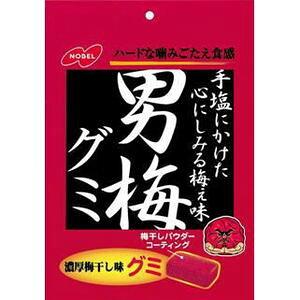 (本州送料無料)ノーベル 男梅グミ (6×4)24入