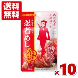 (メール便全国送料無料) 味覚糖 忍者めし 梅かつお味 10入 (ポイント消化)