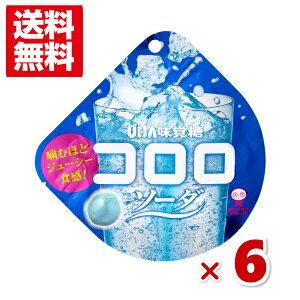 (メール便全国送料無料) 味覚糖 コロロ ソーダ 6入 (ポイント消化)